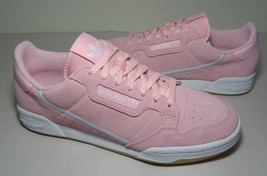 Adidas Size 10.5 M CONTINENTAL 80 Pink Leather Sneakers New Women's Shoes - $107.91