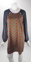 Romeo & Juliet Couture Geometric Sheer Long Sleeve Shift Dress NWT M MSR... - $27.71