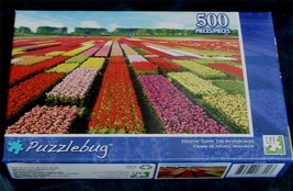 BRAND NEW FACTORY SEALED 500 PiecePuzzlebug Jigsaw Puzzle Field Of Tulips - $5.93