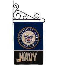 America Navy Burlap - Impressions Decorative Metal Fansy Wall Bracket Ga... - $36.97