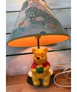 1977 Vintage Winnie The Pooh Nursery Lamp w/ Shade As Is Lights When Plu... - $48.97