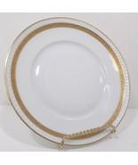 Hermann Ohme Silesia 24K Gold Dessert/Salad/Plate White,Gold Verge Encru... - $29.99