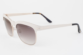Tom Ford Elena Ivory Gold / Brown Gradient Sunglasses TF437 28F - $165.62