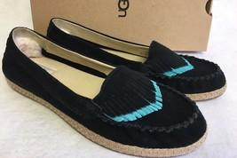 Ugg Australia Shiri Fringe Moccasin Flat Fringe Slip On Boho 1016662 Black sizes - $69.99