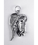 Guardian Angel Jesus Candle charm Sterling silver 925 - $45.96