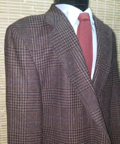 EUC Polo University Club Houndstooth Blazer by Ralph Lauren Virgin Wool 44R