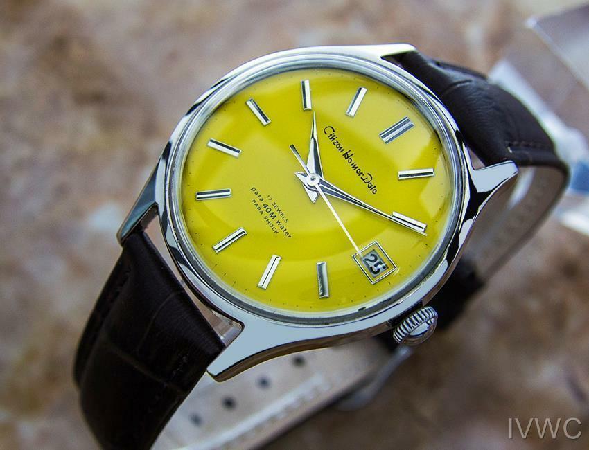 Citizen Homer Data Giapponese da Collezione Uomo Vintage Abito Watch c1960s B18 image 2