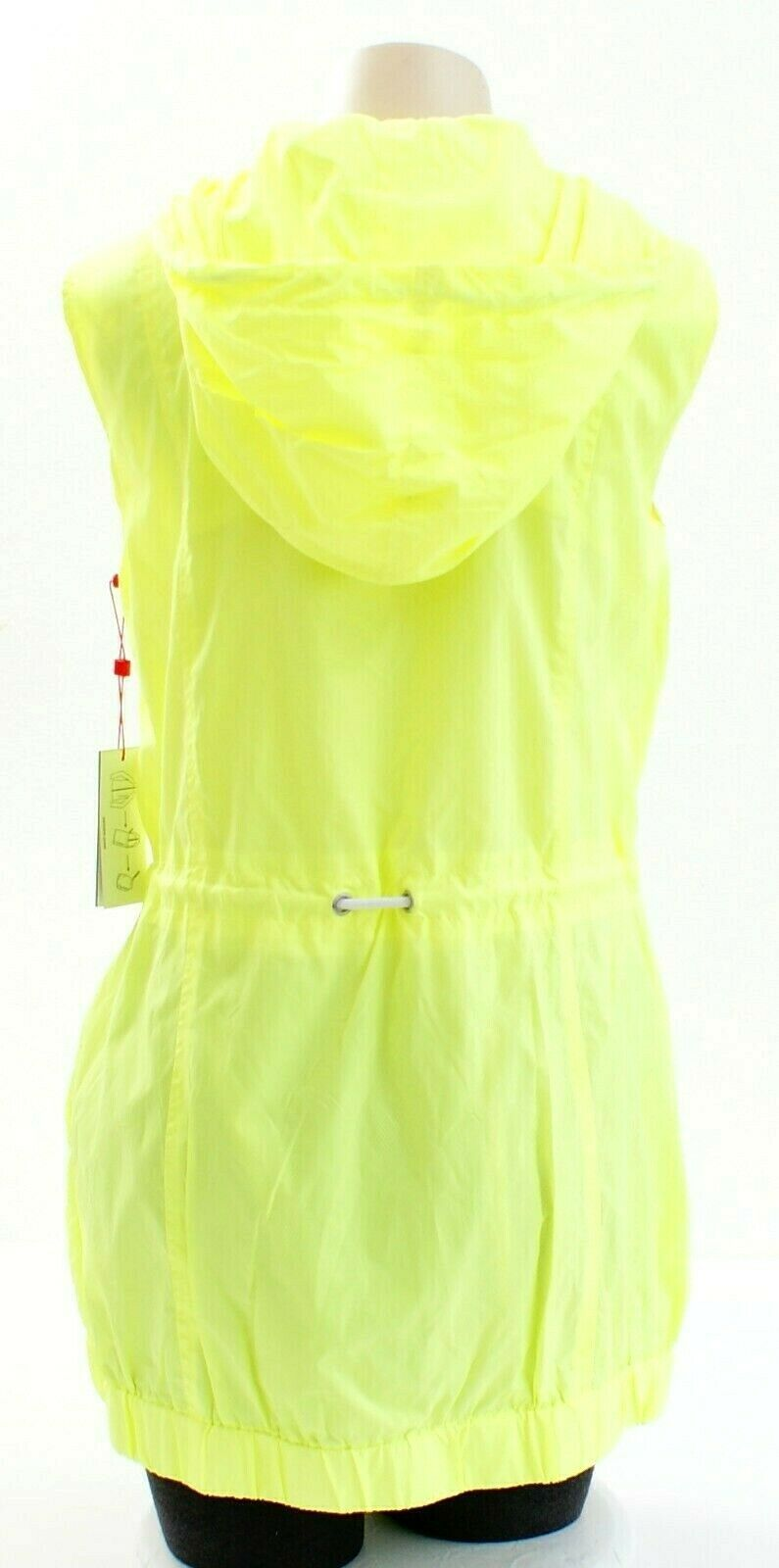 Tommy Hilfiger Yellow Zip Front Drawstring Hooded Sport Vest Women's Packable image 5
