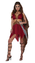 NEW Women's WARRIOR GODDESS Roman Spartan Gladiator Adult Halloween Costume - $35.99