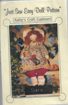 Doll Pattern-Kathy's Craft Cupboard-Just So Easy Doll Pattern ~Christmas - $5.86