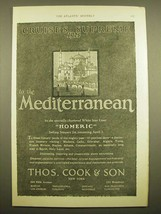 1924 Thos. Cook & Son Cruise Ad - Cruises Supreme 1925 to the Mediterranean - $14.99