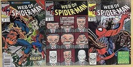 WEB OF SPIDER-MAN lot (3) issues #48 #52 #53 (1989) Marvel Comics FINE- - $9.89