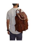 Women Vintage Leather Backpack Satchel Rucksack School Casual Travel Cam... - $56.35+