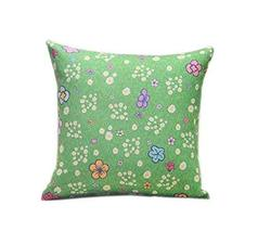 PANDA SUPERSTORE Beautiful Green Floral Pattern Home Furnishing Pillow/Cushion