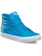 Vans Unisex Sk-8Hi Slim NEON LEATHER  Skate Shoes NEON BLUE MENS 8 WOMEN... - $51.38