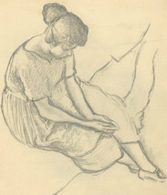Harold Hope Read (1881-1959) - Early 20th Century Graphite Drawing, Hild... - $112.50