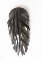 "Vintage molded hard black plastic dress clip 2 1/2"" glossy - $9.50"