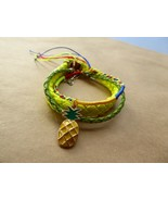 Tropicalia Handcrafted Set 3 Bracelets Pineapple Colored Friendship Yell... - $3.47