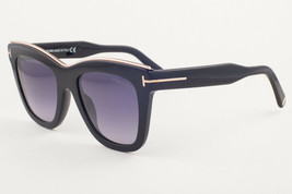Tom Ford Julie Shiny Black / Gray Sunglasses TF685 01C 52mm - $195.02