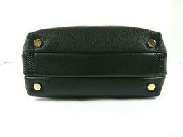 Michael Kors NEW $328 Black Leather Crossbody Messenger Hand Bag Pebbled Gold X image 5
