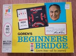 GORENS BEGINNERS BRIDGE GAME LEARN TO PLAY 1967 MILTON BRADLEY #4754 COM... - $15.00