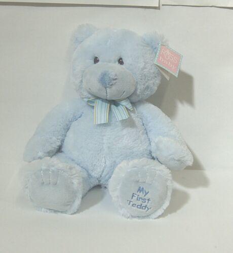 Russ Baby 25914 Fluffy Plush Blue My First Teddy 15 Inches Medium Size