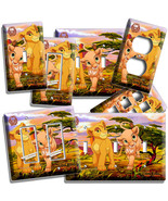 LION KING BABY SIMBA NALA LIGHT SWITCH OUTLET WALL PLATE INFANT NURSERY ... - $8.09+
