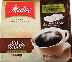 Melitta Dark Roast Coffee Pods for Senseo & Hamilton Beach Pod Brewers, 18 Count - $23.33