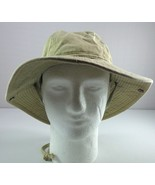 Dorfman Pacific Bucket Hat Khaki Beige with Side Snaps and Chin Cord Size M - $39.55