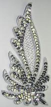 pair appliques sequins applikationen pailletten sew on embroidery handmade ap72 - $9.99