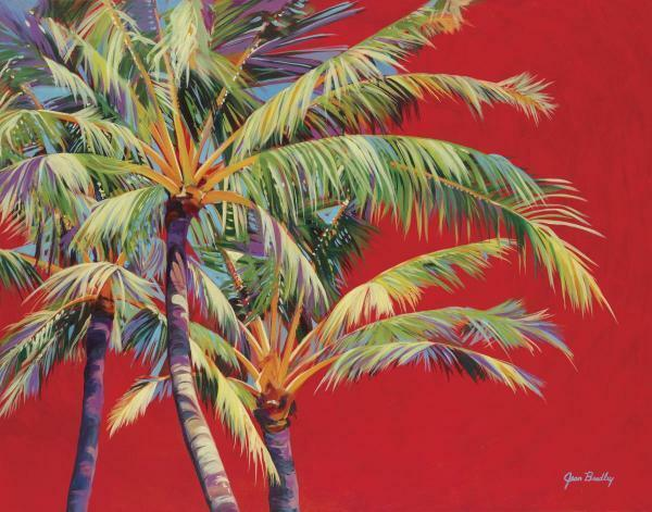 Primary image for Fire Palm by Jean Bradley Palm Tree Tropical Canvas Giclee Print Art Print 30x40