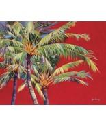 Fire Palm by Jean Bradley Palm Tree Tropical Canvas Giclee Print Art Pri... - $386.10