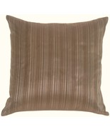 Pillow Decor - Fine Stripe in Silver Blue Silk Accent Pillow - $29.95