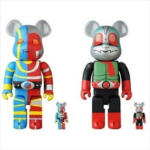 BE@RBRICK 400% & 100% 2 Set Kikaider Kamen Rider New No. 2 Medicom Toy Figure - $420.99