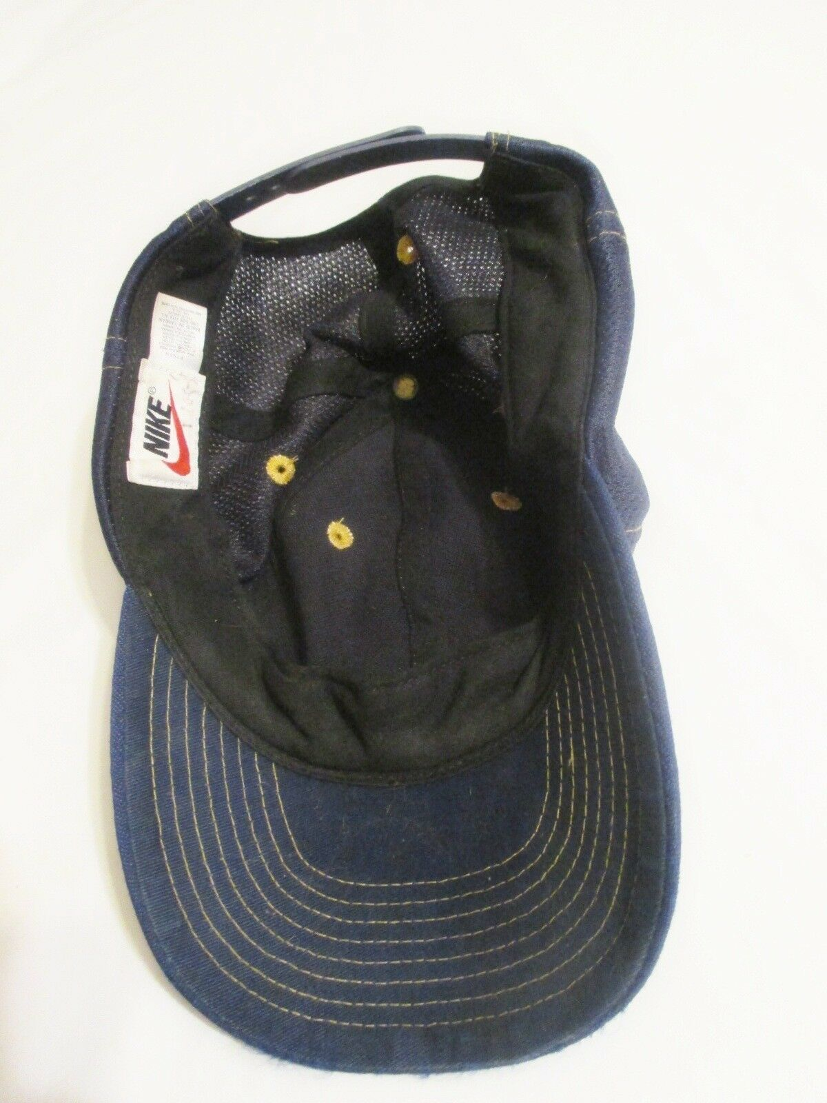NIKE Vintage Baseball Cap/Hat One Size Snapback Maize/Blue Running, Fishing