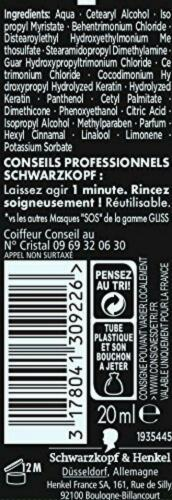 Schwarzkopf - Gliss - Masque Cheveux - Sos Ultimate Repair Sérum 20 ml - Lot...