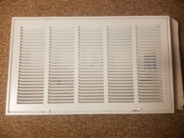 TruAire H190 25 in. x 14 in. 5-Column Return Air Grille, White - $35.00