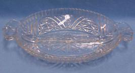 VINTAGE LOVELY GLASS CRYSTAL RELISH DISH CENTER... - $10.84