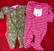 Zutano + Carter's One Piece Footie Pajamas Rompers Cotton Terry Baby Gir... - $24.75