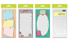 """Set of 4 Magnetic List Pads, 3.75"""" x 8.125"""" Grocery Shopping List Pads,... - $12.51"""