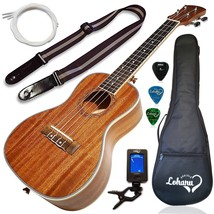Ukulele Concert Size Bundle From Lohanu LU-C 2 Strap Pins Installed FREE... - $116.35