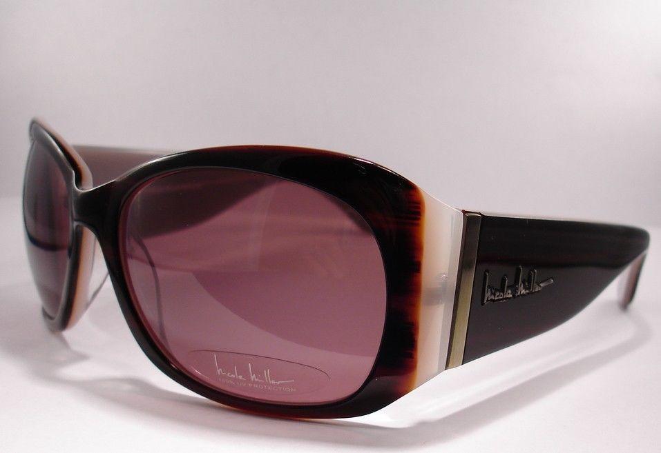 c54657f40929 Nicole Miller Indochine brown sunglasses Women Designer Plastic 100% UV