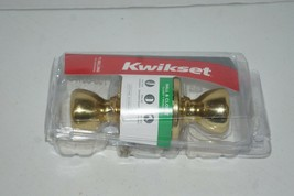 Kwikset Polished Brass Tylo Passage Knob 200T 3 CP V1 - $9.89