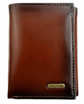 Nautica Men's Leather Credit Card Passcase Wallet Trifold Tan 31NU11X017 image 3