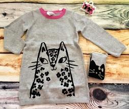 NWT Gymboree Baby Sweater Dress Tights Set Kitty 2T 3T