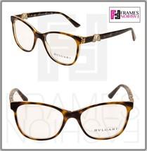 BVLGARI Diva 4118 Havana Gold RX Luxury Eyeglasses Frame BV4118B Rhinestone - $247.50