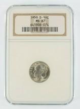 1950-D 10C Roosevelt Dime Classé Par NGC Comme MS-67 ! Superbe Argent Dime - $39.75