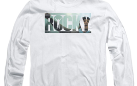 Rocky Retro Boxing Movie Balboa Creed graphic long sleeve white T-shirt MGM239 image 3