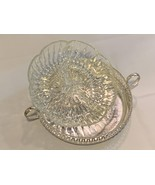 Silver Plated Biscuit /Cookie Platter with floral design and sectional g... - $399.99