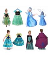 Princess Elsa Anna Frozen Dressup Costume Dress Ball Gown Toddler 2-10 Y - $11.87 - $14.83